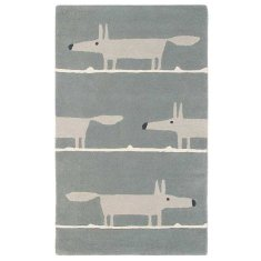 Scion Mr Fox Silver Wool Rug