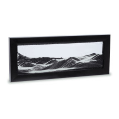 Moving Sand Art in black picture frame