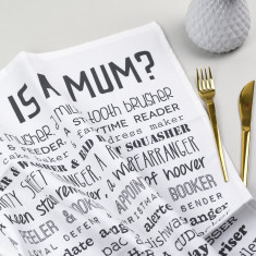 What is a Mum? Poem tea towel