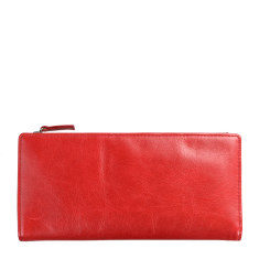 Dakota leather wallet in red