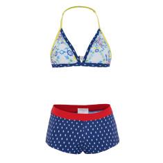 Girls' UPF 50+ kaleidoscope boy leg bikini