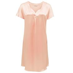 Silk sleepshirt in soft pink
