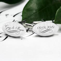 Wedding cufflinks custom engraved