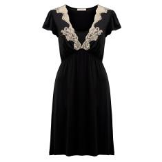 Premium modal maternity nightdress in black
