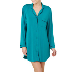 Piped nightshirt in emerald
