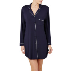 Piped nightshirt in navy