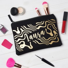 Personalised Marble Make Up Bag