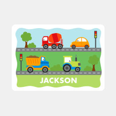 Personalised Transport Placemat