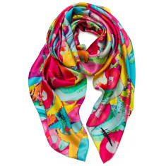 Expressive bloom scarf