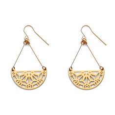 Gold nova earrings