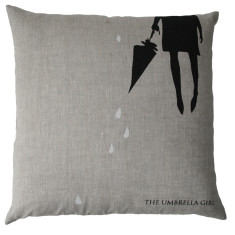 Umbrella girl cushion cover