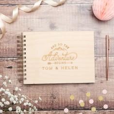 Personalised Wilderness Wedding Guest Book