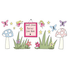 Fairy wall art stickers (set of 16)