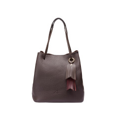 Paro Bucket Bag in Brown Leather