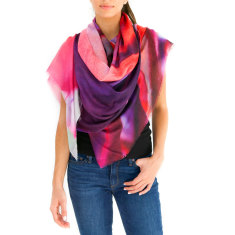 Cashmere Silk Scarf For Women, Maui Palm
