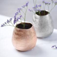 Mesh Style Metallic Vase