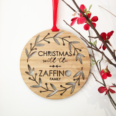 Personalised Christmas wreath wall hanging