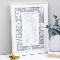 Letter to mum personalised poem print