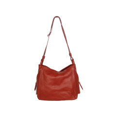Matilde genuine leather shoulder bag in red