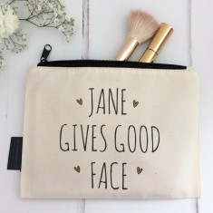Gives Good Face Personalised Makeup Bag