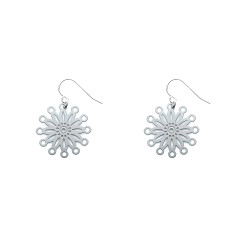 Fire Pinwheel Earrings