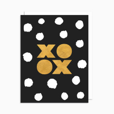 XOXO card with white envelope (5 pack)