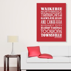 Personalised locations DIY canvas downloadable print