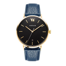 Versa 40 watch in Gold with Blue band
