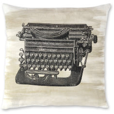 Vintage Typewriter linen cushion cover