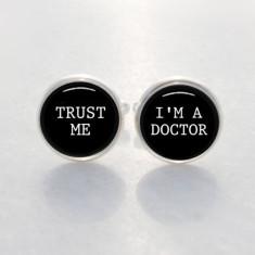 Trust me I'm a doctor cufflinks