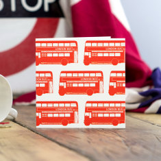 London bus greeting card (pack of 6)