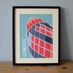 London Gherkin art print