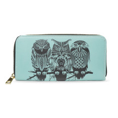 Owls Of The Nile Vegan Leather Wallet Purse