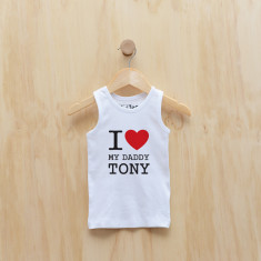 Personalised I love my... singlet