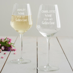 Personalised 'Galentine' Wine Glass