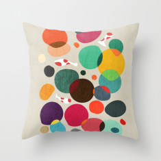 Lotus in koi pond cushion cover