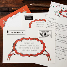 Personalised Santa Claus letter set