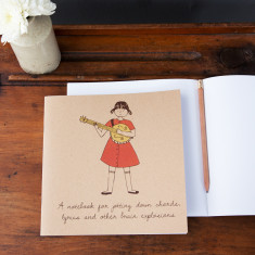 Banjo girl notebook