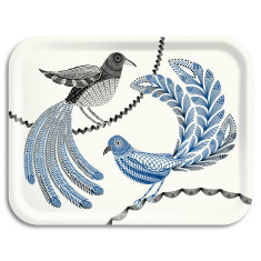 Lovebirds rectangle tray
