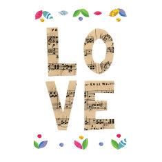 Musical love print