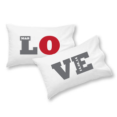 Love personalised pillowcase set