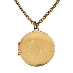 Love... engraved vintage locket