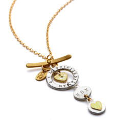 Personalised love drop necklace