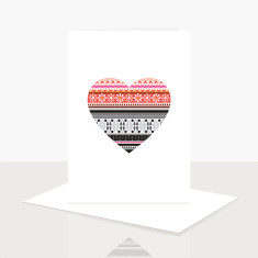 Love Heart Greeting Card (Pack of 8)