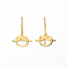 Love knot earrings in gold plate