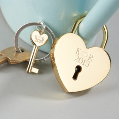 Personalised love lock and keyring