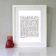Personalised story art print