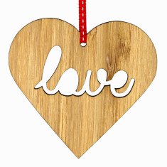 Love wooden Christmas decoration