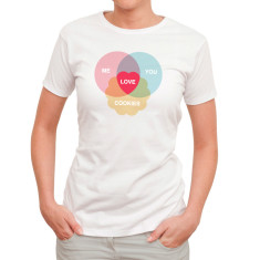 Love cookies women's white t-shirt