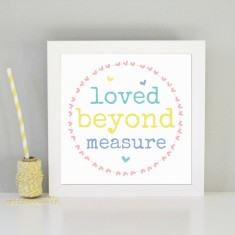 Loved beyond measure kid's nursery print